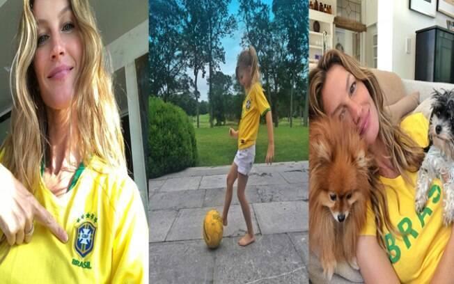 Gisele Bündchen está empolgada com a Copa do Mundo