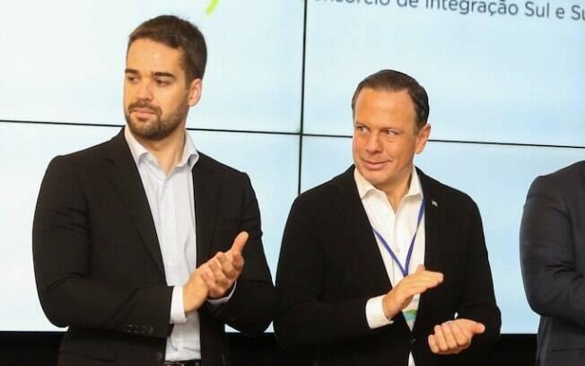 Eduardo Leite e João Doria