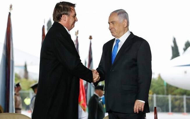 Bolsonaro e tem Benjamin Netanyahu como um de seus principais aliados