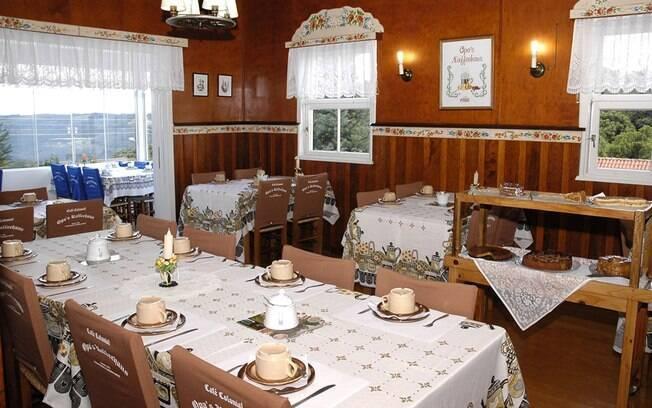 Experimente o Café Colonial de um jeito diferente no Opa's Kaffeehaus, em Nova Petrópolis. Aqui o lema é . Foto: Divulgação