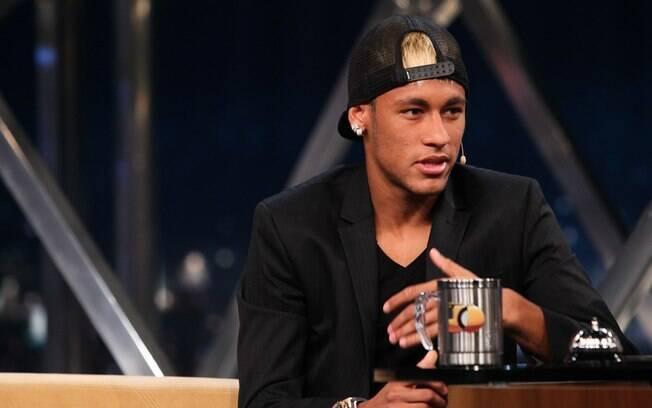Neymar participa da gravação do programa do  Jô, que irá ao ar nesta segunda-feira (4/3) à  noite