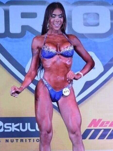 Priscila Reis é uma atleta trans de fisiculturismo