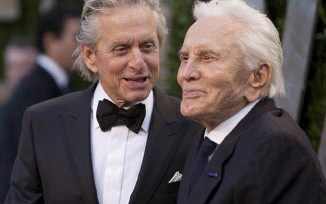 Kirk Douglas e seu filho, Michael Douglas
