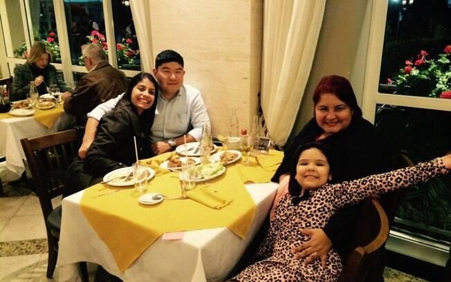 Depois de certa resistência, Maria Aparecida visitou Priscila em Curitiba, com a filha Michelle