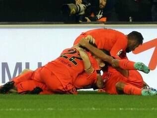 Busquets salvou a equipe do Barcelona com gol no fim da partida