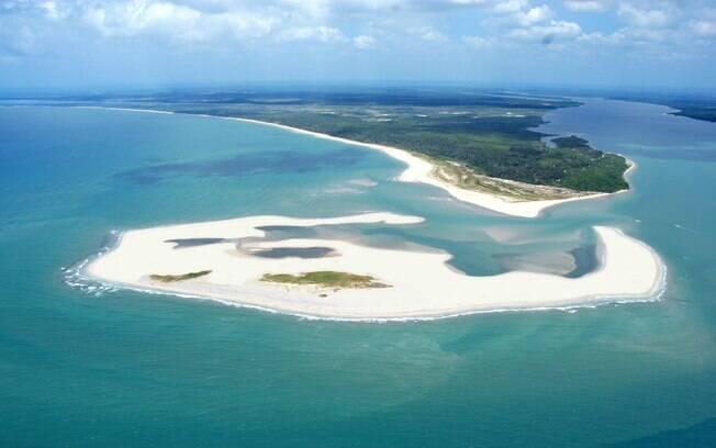 A Península de Maraú, no Sul da Bahia, vista de cima