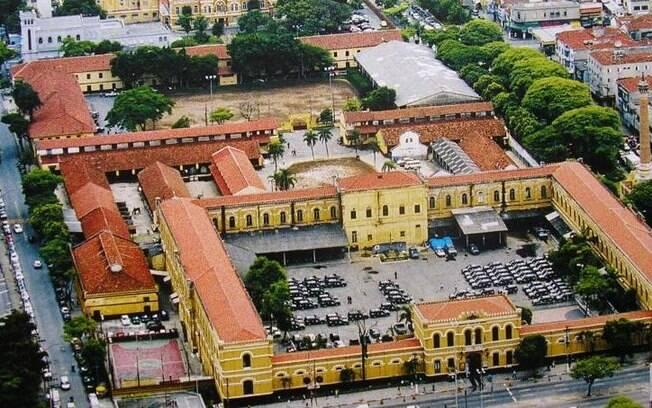 Vista aérea do Quartel da ROTA, prédio construido em 1891 e inspirado na arquitetura militar francesa