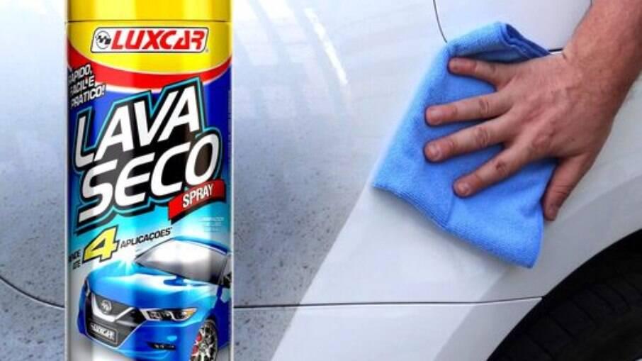 Lava a Seco Spray da Luxcar rende até quatro lavagens de veículos pequenos sem gastar uma gota d'água