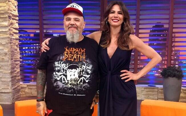 Luciana Gimenez recebe o músico e apresentador João Gordo no talk show 'Luciana By Night'