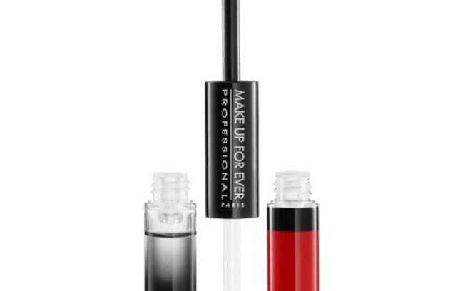 Batom e Brilho Aqua Rouge Waterproof da Make Up For Ever por R$ 142,00