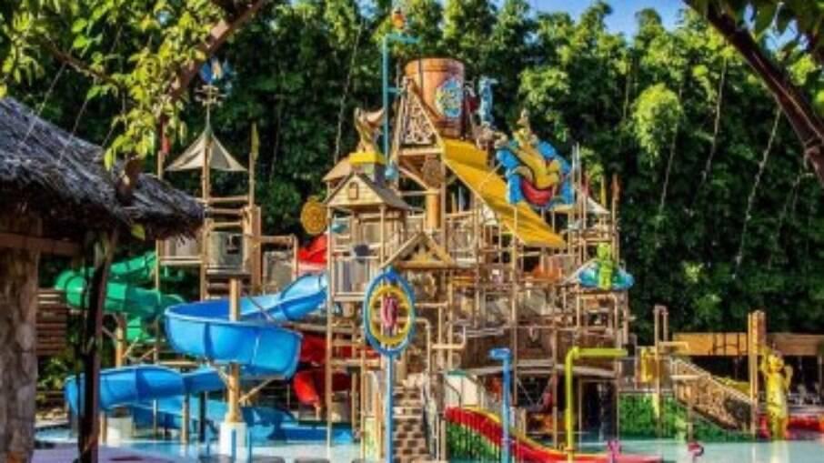 O Hot Park conta com águas naturalmente quentes