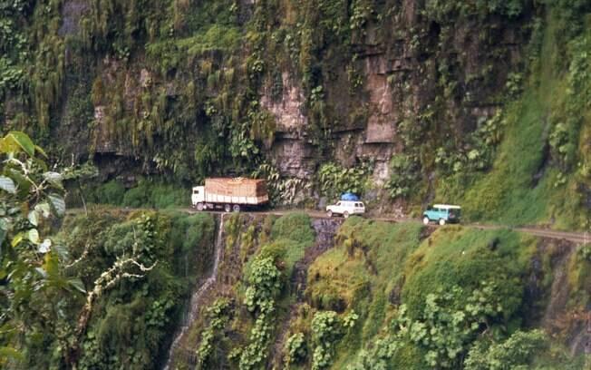 Você teria coragem de dirigir neste local?
