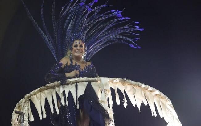 Susana Vieira foi destaque no desfile da Grande Rio