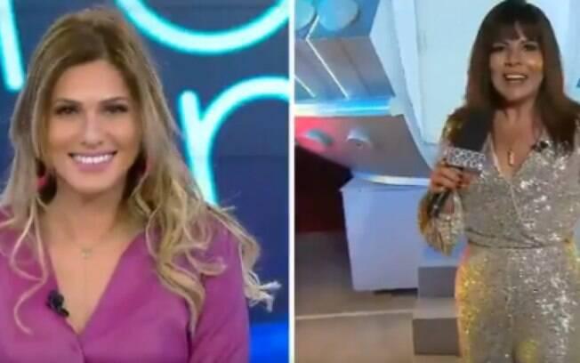 Lívia Andrade não esconde desconforto ao lado de Mara Maravilha