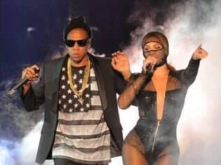 Beyonce e Jay-Z no Sun Life Stadium, em Miami, na Flórida.