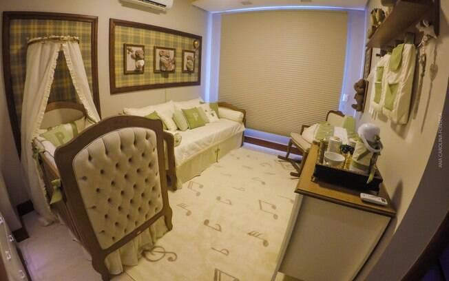 Cris e Linda também projetaram o quarto do bebê dos cantores Maria Cecília e Rodolfo, que nasceu no ano passado