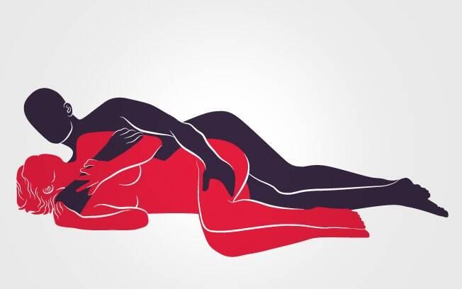 Além de facilitar a vida da mulher que não gosta de penetração profunda, esta posição é ótima para dias de preguiça