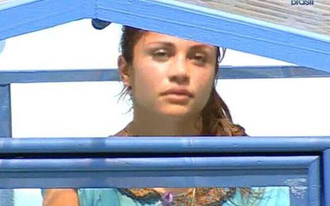 Maria Melilo ficou 12 horas na prova do líder, antes de ser eliminada