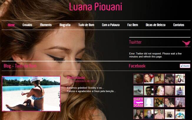 Luana Piovani no blog: