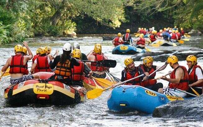 O Rio Paranhana, em Três Coroas, é uma das principais referências para canoagem do País. Foto: Divulgação