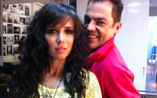 Marjorie com Marco Antonio de Biaggi em ensaio fotográfico