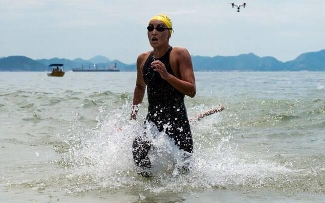 Poliana Okimoto foi bronze na maratona aquática do Rio de Janeiro
