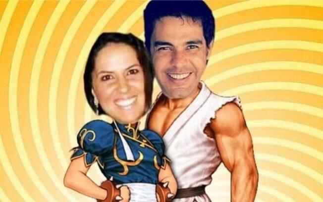 Zezé Di Camargo e Graciele Lacerda viram personagens de videogame