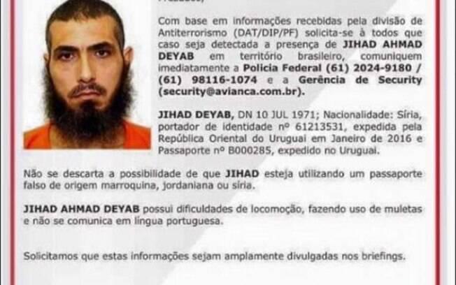 Diyab nasceu no Líbano de pai sírio e mãe argentina e  já havia tentado entrar no território brasileiro