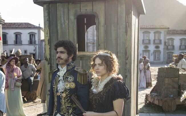 Dom Pedro e Leopoldina são proclamados imperadores do país, em Novo Mundo