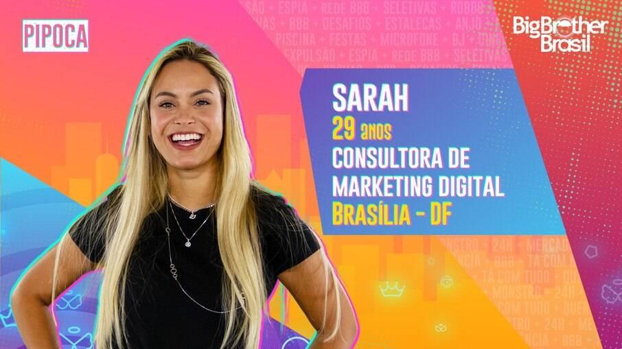 Consultora de marketing brasiliense, Sarah, participará dessa edição do BBB
