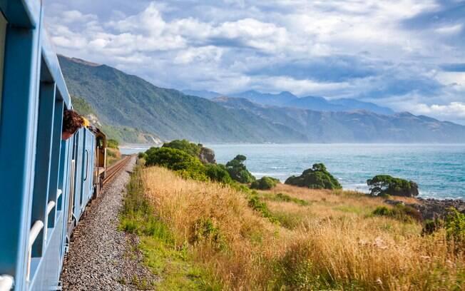 O trem turístico Coastal Pacific teve de interditar um vagão sem janelas para evitar selfies perigosas dos turistas