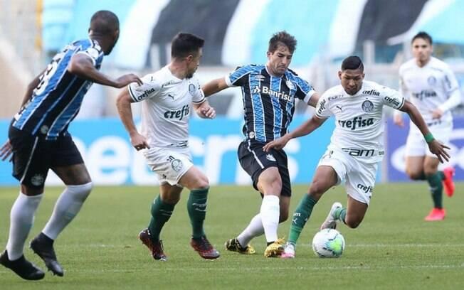 Palmeiras e Grêmio empataram em 1 a 1