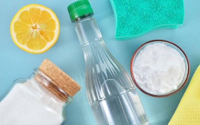 Vinagre, limão e bicarbonato de sódio podem ser grandes aliados na hora da limpeza
