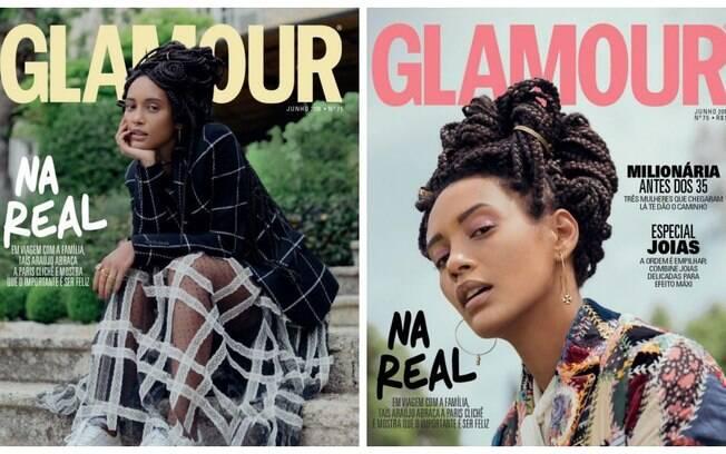 Tais Araújo capa da Glamour de junho
