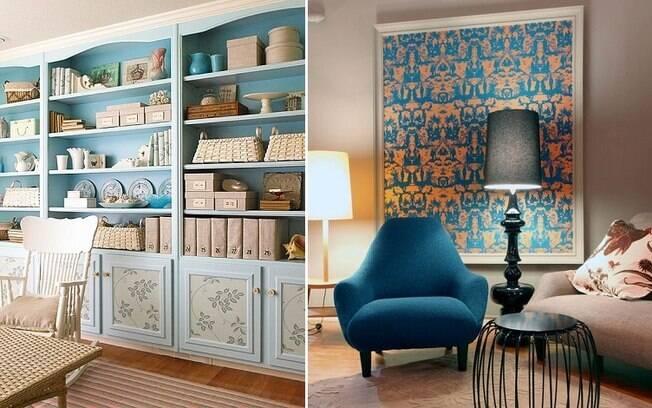 Apesar do nome, há muitas formas de usar o papel de parede sem aplicá-lo nas paredes; veja as ideias de decoração