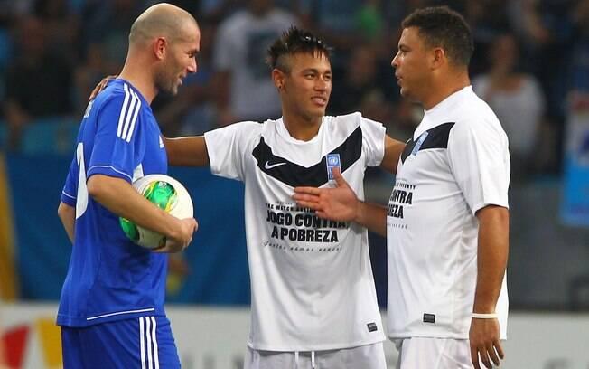 Zinedine Zidane, Neymar e Ronaldo