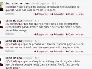 Deputado discutiu com o responsável pelo perfil Dilma Bolada