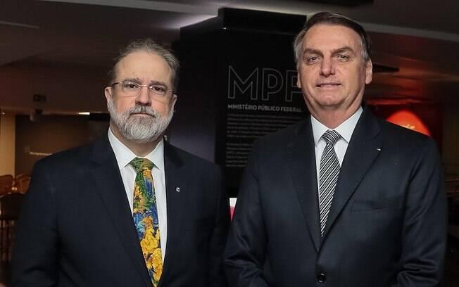 Jair Bolsonaro e Augusto Aras