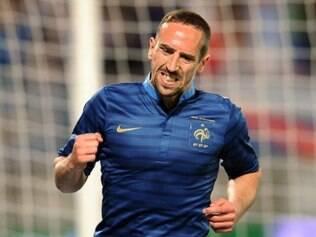 Ribéry é a grande estrela da seleção francesa