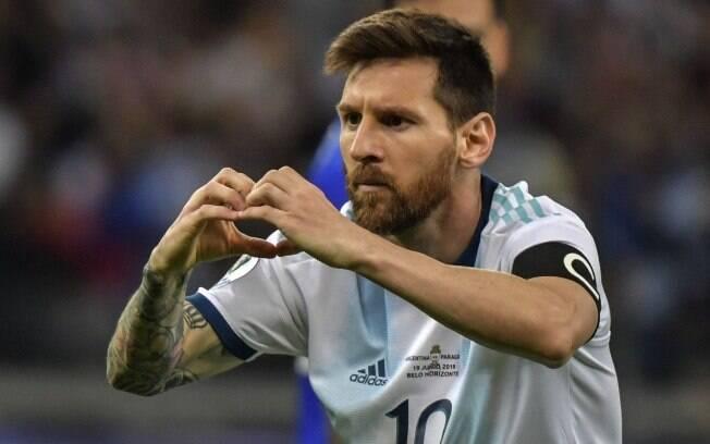 Lionel Messi marcou o gol de empate da Argentina diante do Paraguai pela Copa América