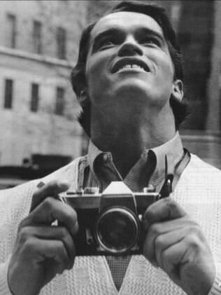 Arnold Schwarzenegger vendo Nova York pela primeira vez, 1968.