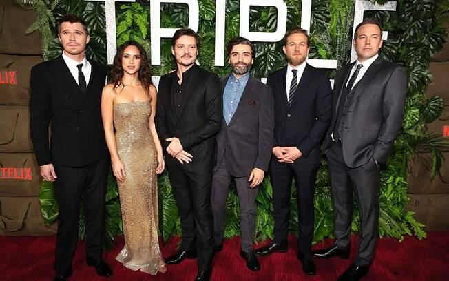 O elenco de Operação Fronteira na premiere do filme nos EUA