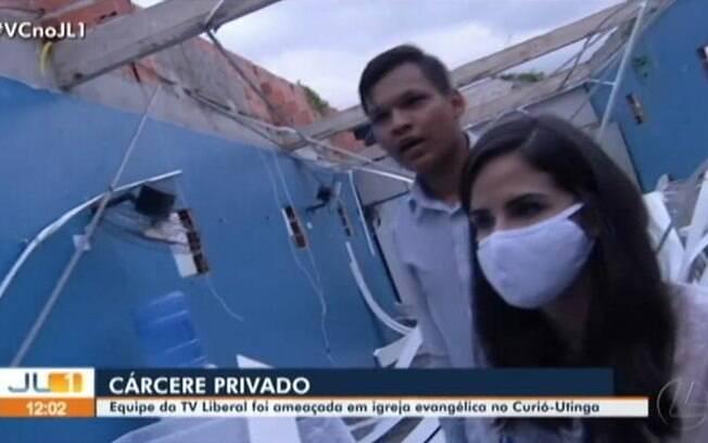 Nathália Kahwage é mantida refém dentro de igreja no Pará