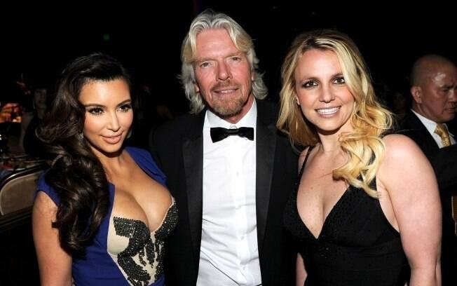 Kim Kardashian, Richard Branson e Britney Spears