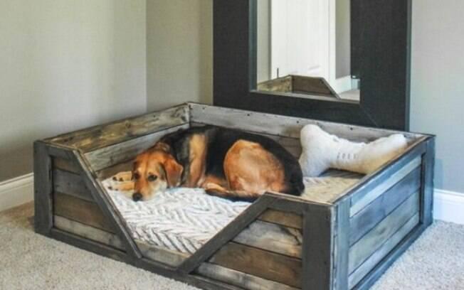 Mesmo que a cama para cachorro seja de madeira, plástico ou vime, ela deve ser acolchoada