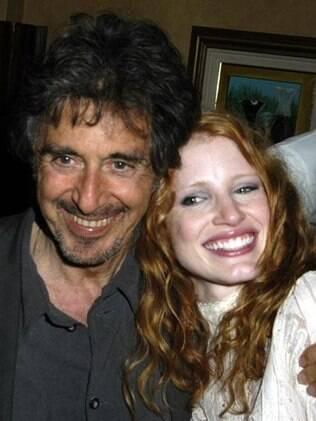 Al Pacino e Jessica Chastain na festa de estreia de 'Salomé' (27/04/2006)