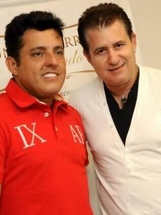 Bruno e Marrone nos bastidores