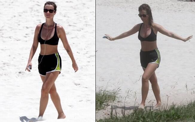Juliana Didone: exercícios físicos na praia