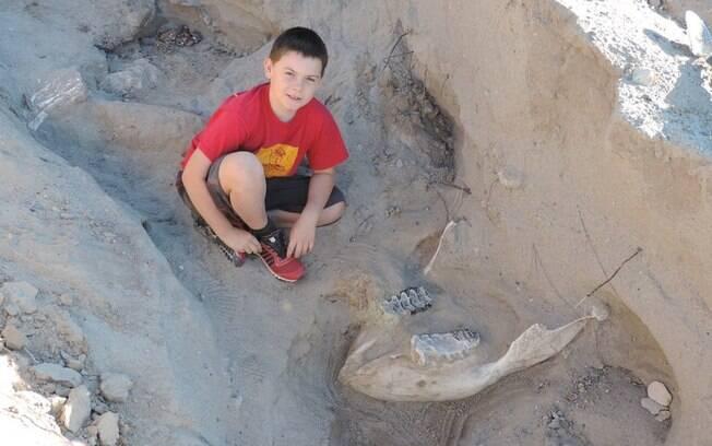 O americano Jude Sparks encontrou um fóssil pré-histórico nos Estados Unidos