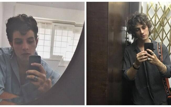 6. Nosso boy crush Chay Suede adora tirar foto na frente do espelho